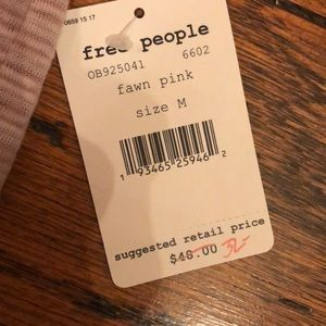 Free People Tops - Free People dorothy peasant crop top in fawn pink